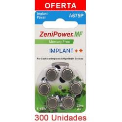 Pack Zenipower: 300 Pilas -5 Cajas de 60 pilas para implante coclear