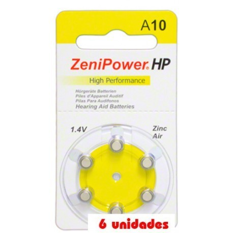 ZeniPower A10 Hearing Aid 6uds