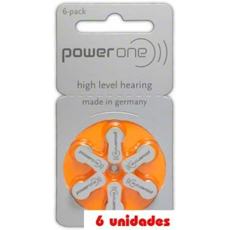 Pack 60 pilas PowerOne P13 Audifonos