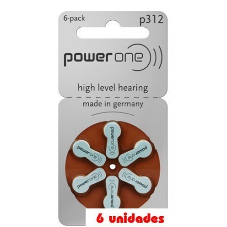 pack 60 pilas PowerOne 312 Audifonos