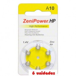 Pack 60 pilas ZeniPower A10 Hearing Aid