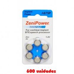 Pack Ahorro Zenipower: 2 Paquetes de 60 pilas implante coclear