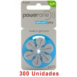 Pack Ahorro Power One : 5 Paquetes de 60 pilas implante coclear