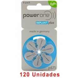 Pack Ahorro Power One : 2 Paquetes de 60 pilas implante coclear