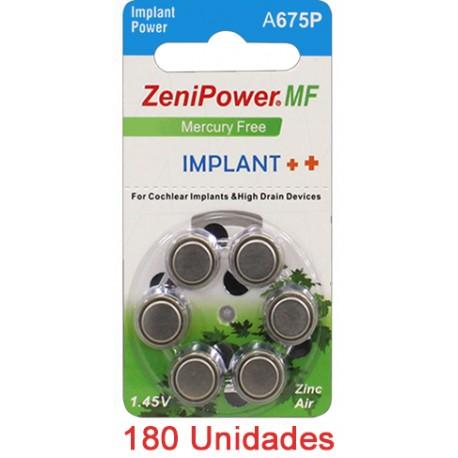 Pack 180 Pilas Zenipower: 3 Paquetes de 60 pilas implante coclear