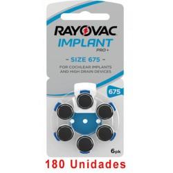 Rayovac AE675 - 180 uds. Implante coclear