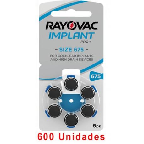 Rayovac AE675 - 600 uds. Implante coclear
