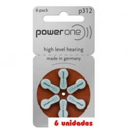 PowerOne 312 Audifonos 6 uds