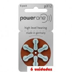 PowerOne 312 Audifonos 6 uds