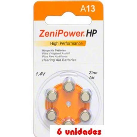 Pack 60 pilas Zenipower P13 Audífonos
