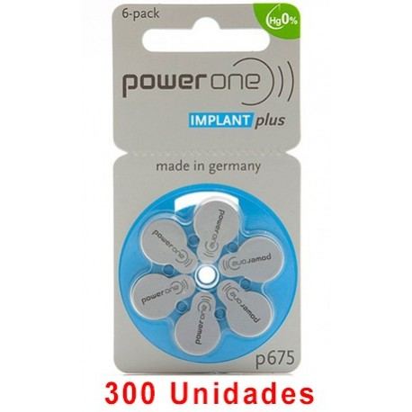 Pack Ahorro Power One : 5 Paquetes de 60 pilas implante coclear