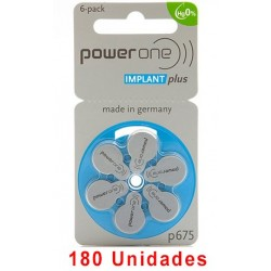 Pack Ahorro Power One : 3 Paquetes de 60 pilas implante coclear